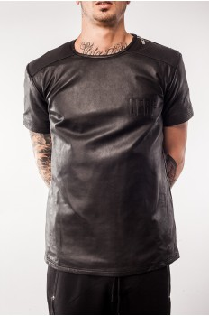 Leather t-shirt - NATE