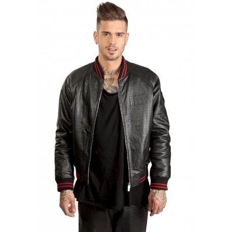 Jacket Leather Python - Teddy Pyth Red
